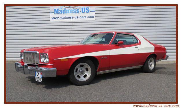 ford gran torino 1975 starsky hutch voitures voiture. Black Bedroom Furniture Sets. Home Design Ideas