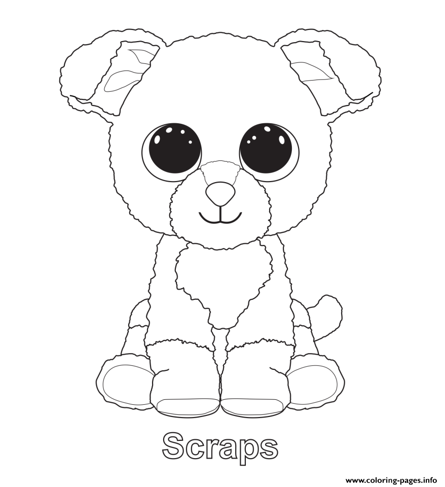 print scraps beanie boo coloring pages  beanie boo party