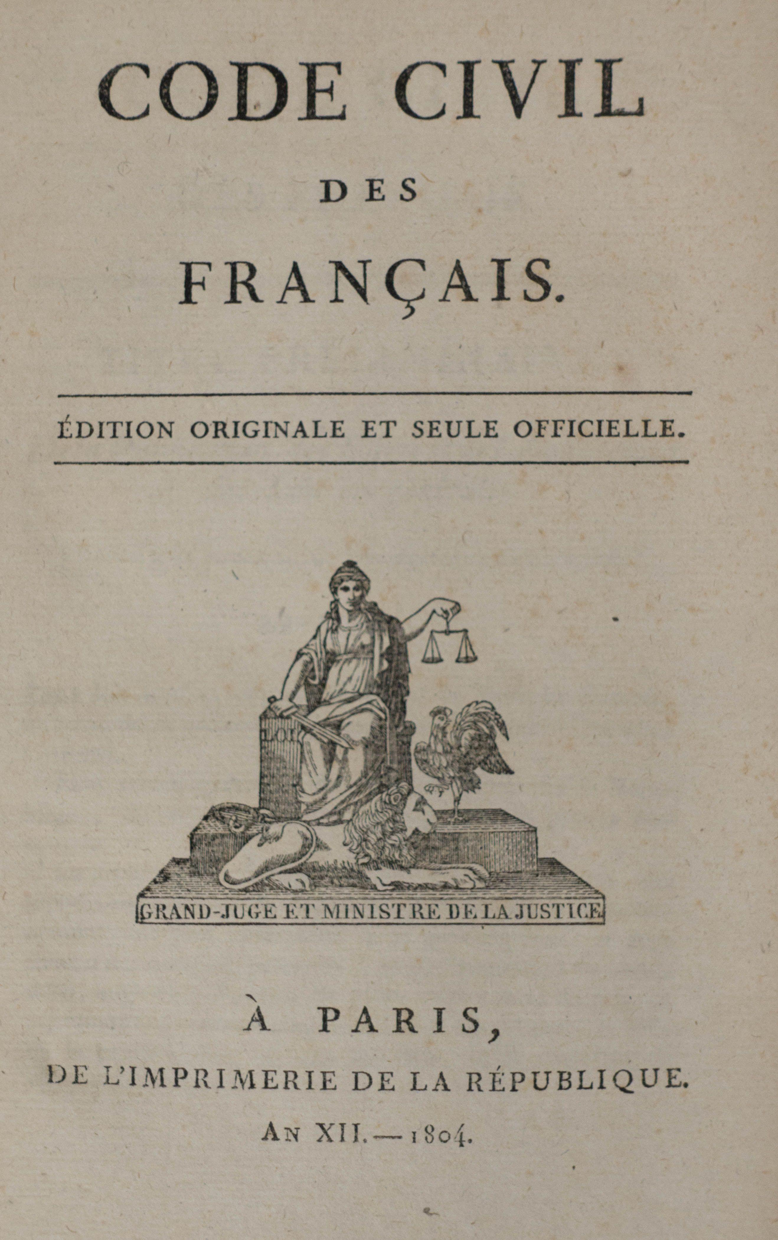 Code Civil Des Francais Civilization French Collection Napoleon