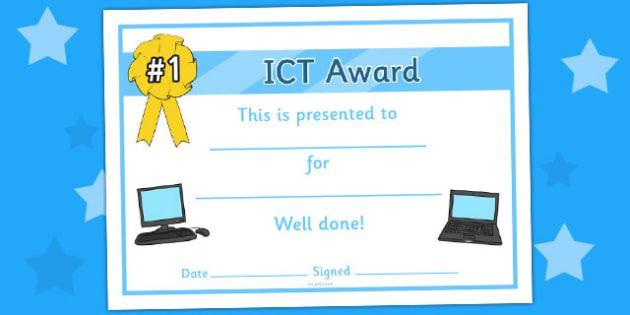 General Ict Certificate General Ict Certificate Certificate Award Certificates Reward Ict Ict Information And Communications Technology Digital Literacy