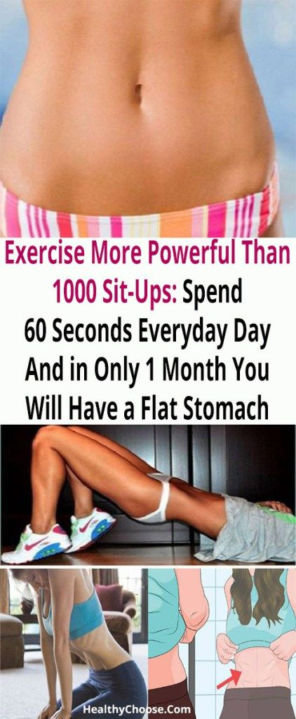 Image result for Exercise More Powerful Than 1000 Sit-Ups: Spend 60 Seconds Everyday Day And in Only 1 Month You Will Have a Flat Stomach