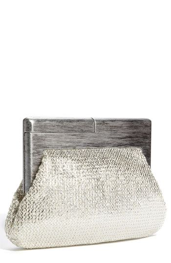 Melie+Bianco+'Daisy'+Metallic+Clutch+available+at+#Nordstrom