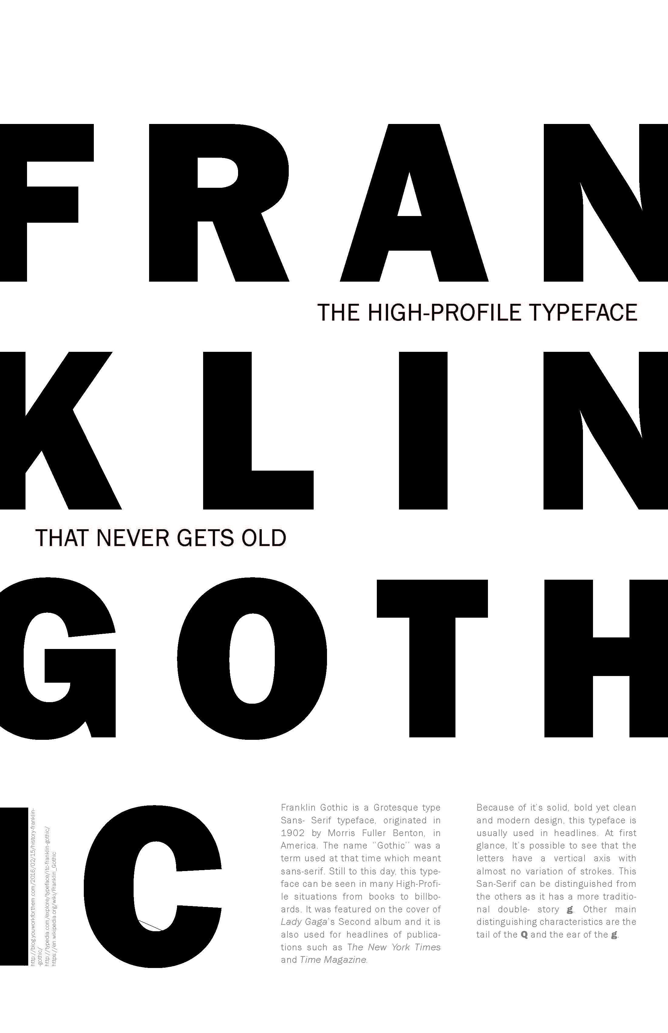 Franklin Gothic Typography poster | typography | Typographic