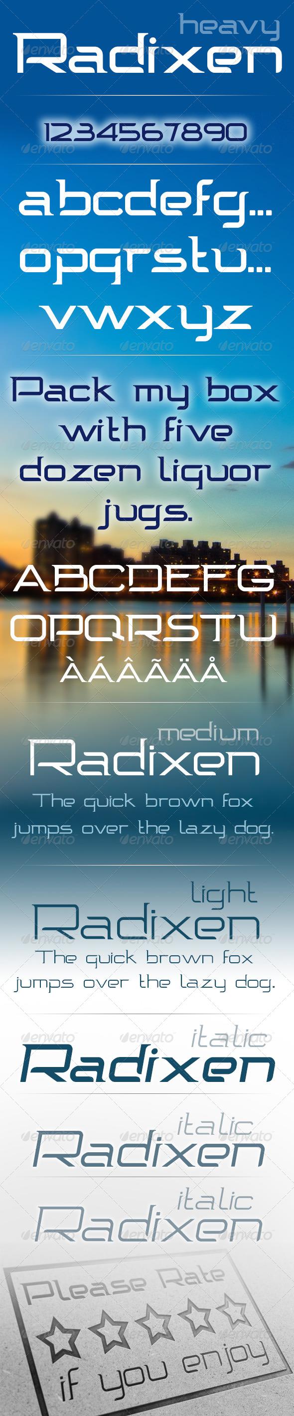 Radixen Font GraphicRiver Radixen Font Simple