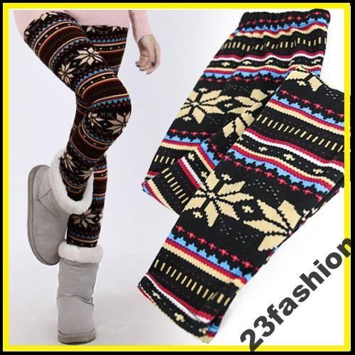 Legginsy Getry Norweskie Nordish Rurki Renifery 3654250524 Oficjalne Archiwum Allegro Winter Fashion Fashion Style