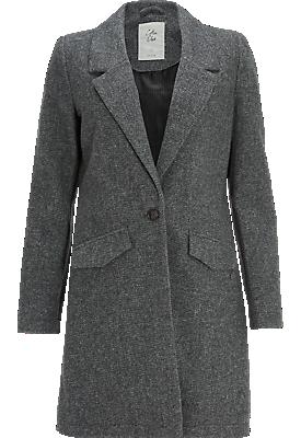 wollen coat antraciet