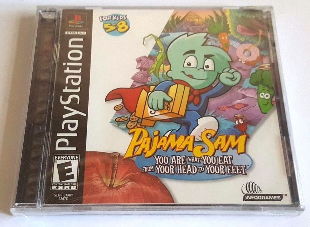 Playstation Ps1 Brand New Game Pajama Sam Super Fun For Everyone