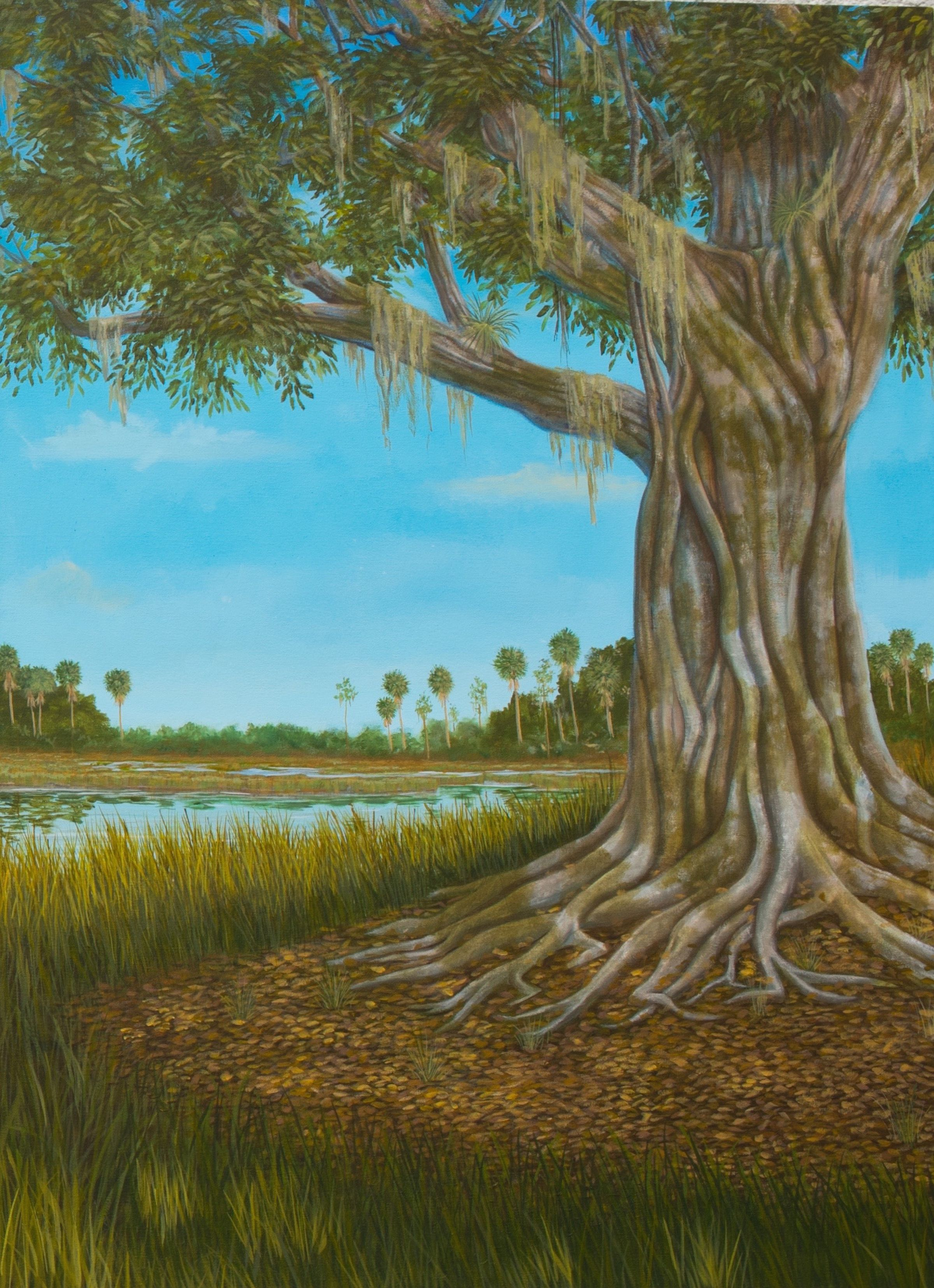 3rd panel of an Everglades themed triptych