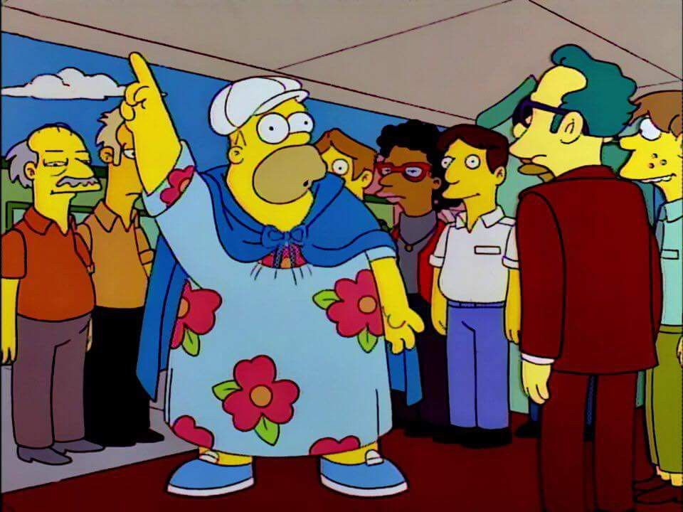 Sarcastic Guy Hey Fatty I Got A Movie For Ya A Fridge Too Far Sarcastic Guy Character Simpson