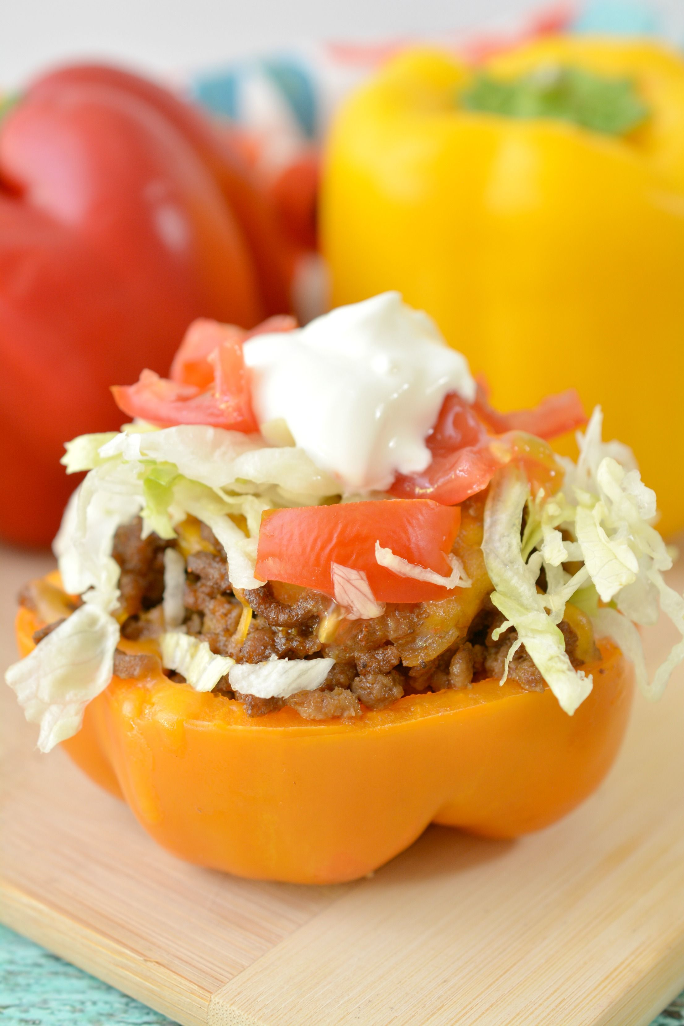 Keto Stuffed Bell Peppers Everyday Ketogenic Recipe Low Carb Stuffed Peppers Peppers Recipes Stuffed Bell Peppers
