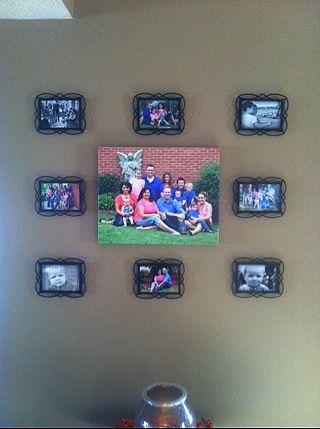 I just love my new family wall.