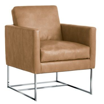 Check Out This Item At One Kings Lane Aart Leather Accent Chair Camel