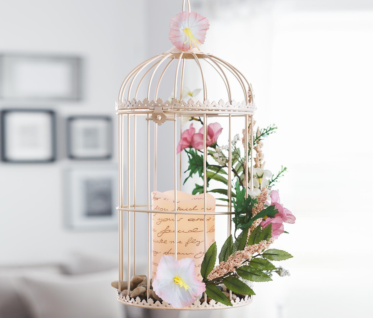 der deko k fig aus metall im vintage stil zaubert eine romantische stimmung er kann je nach. Black Bedroom Furniture Sets. Home Design Ideas