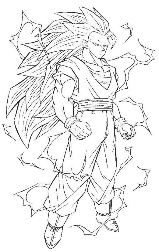 Dragon Ball Z Imagenes para Colorear | Manga