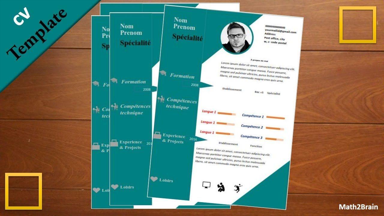 CV professionnel word تصميم سيرة ذاتية إبداعية Cv
