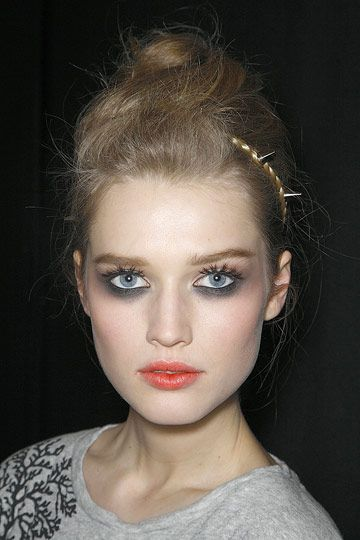 Backstage at Zac Posen, February 2009.