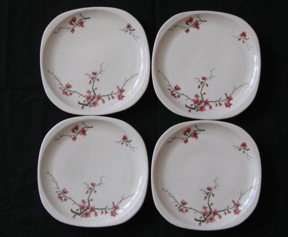 Syracuse Restaurant China 8-7/16  Square  Trend  Plates (Set & Syracuse Santa Fe Railroad Restaurant China 8-7/16