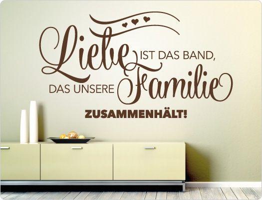 Wandtattoo Liebe Ist Das Band, Das Unsere Familie Zusammenhält
