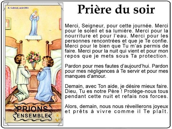 Bien-aimé Prières du Soir | Les Prières | Pinterest | Prière du soir  EP61