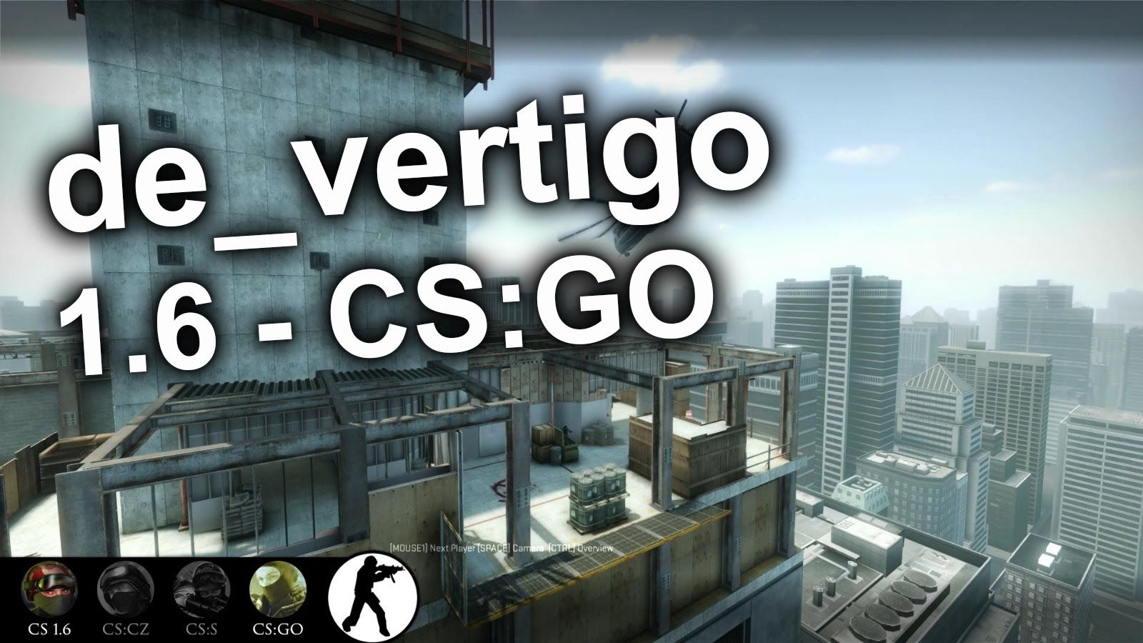 de_vertigo - 1.6 VS CS:GO remake #games #globaloffensive #CSGO #counterstrike #hltv #CS #steam #Valve #djswat #CS16