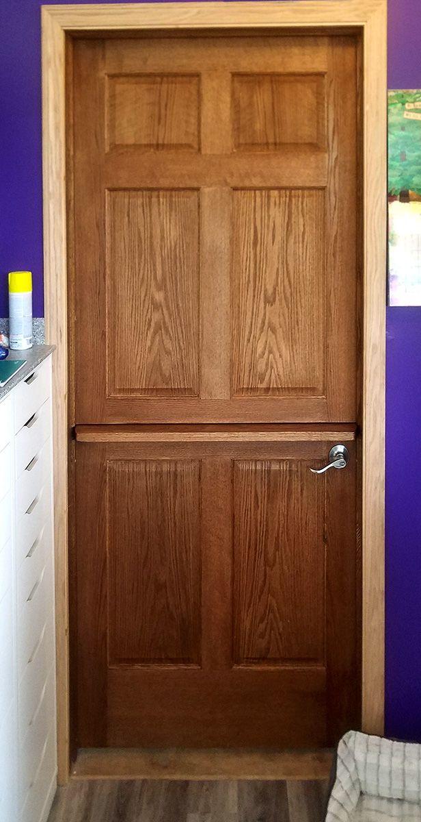 Oak 6 Panel Interior Dutch Door With Shelf. #oakinteriordoors  #6panelinteriordoors #solidinteriordoors