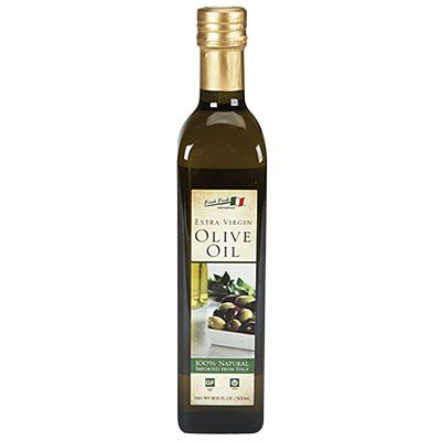Fresh Finds™ Extra Virgin Olive Oil at Big Lots.  16.9 fl. oz. 100% natural and imported from Italy. I doubt you can find a better price for pure and natural Extra Virgin Olive Oil for this size. If you can, Please let me know!  :)  Kelly