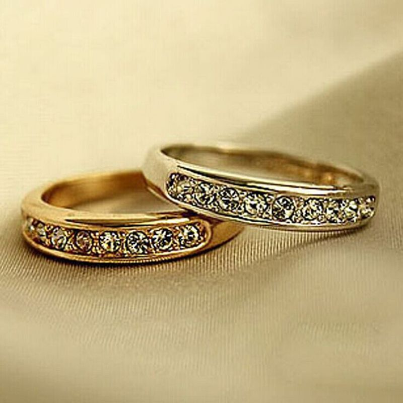 1Pc Womens Girl Fashion Crystal Finger Ring Band Jewelry Wedding ...