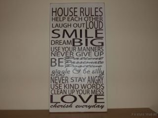 House Rules Sign | Family House Rules Sign/Plaque