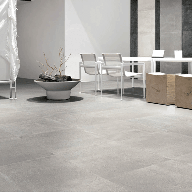 Best Cement Light Grey Matt Porcelain 60Cm X 60Cm Floor Tile In 400 x 300