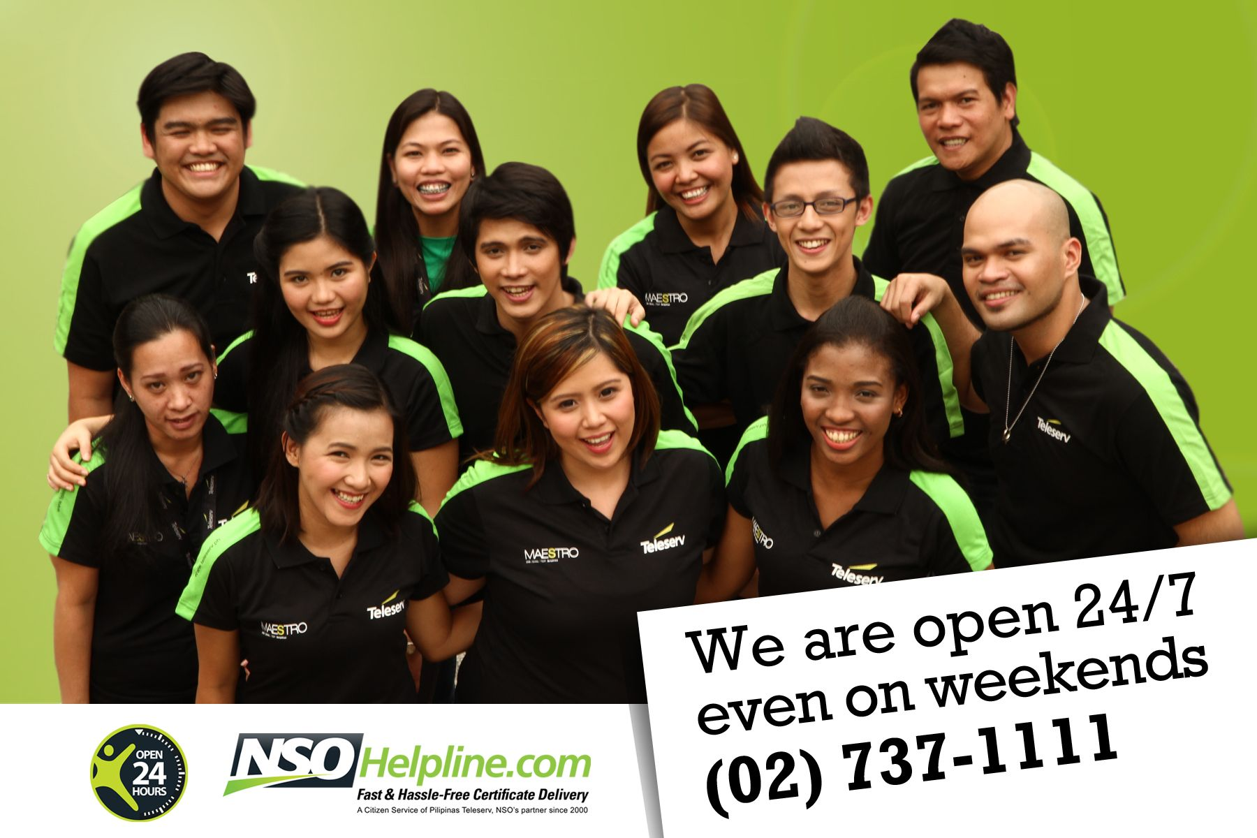 www.NSOHelpline.com is open to serve 24 hours a day, 7 days a week ...