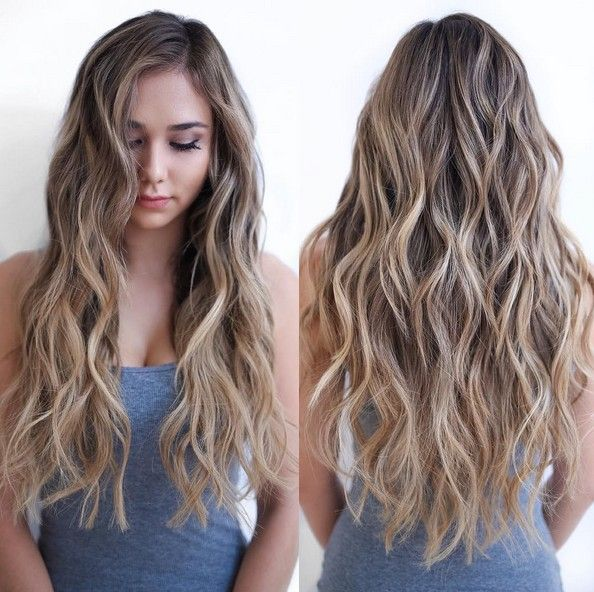 Hair Highlights Natural Dye Highlights Long Layers How To