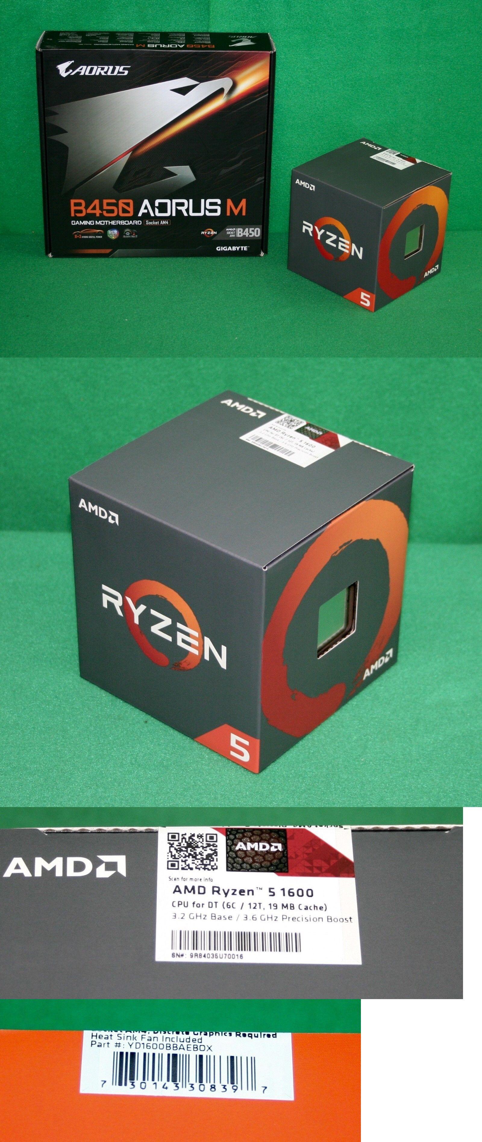 Amd Ryzen 5 1600 Ryzen Processor Gigabyte B450 Aorus M Matx Motherboard Combo Gigabyte Motherboard Amd