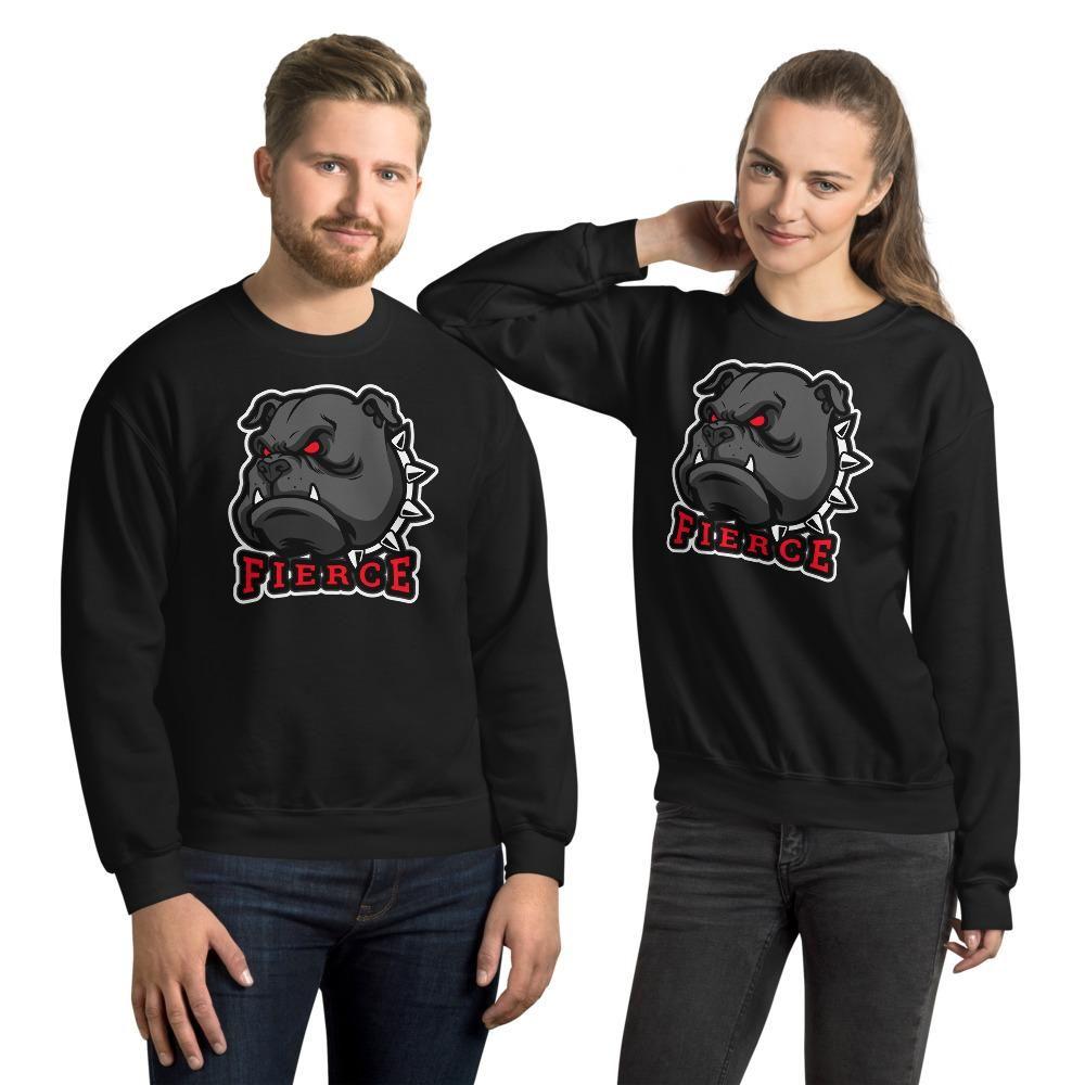 Fierce Unisex Sweatshirt (add your own logo or graphic) - Black / 2XL
