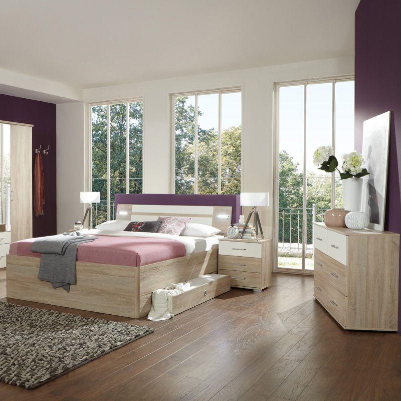 Schlafzimmerset 4-tlg »MODEO« Eiche sägerau, alpinweiß Jetzt