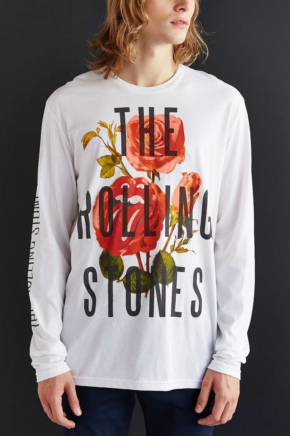 The Rolling Stones Floral Long-Sleeve Tee