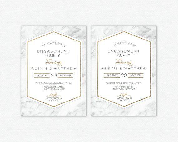 Engagement Party Invitation Template Editable, Invitation