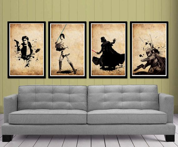 star wars posters set home pinterest fotowand fundst cke und einrichtung. Black Bedroom Furniture Sets. Home Design Ideas
