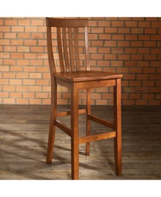 School House Bar Stool With 30 Seat Height (Set Of 2) is part of home Bar Seating - Constructed of solid hardwood, this school house style bar stool is designed for longevity  Contoured seats and shaped back provide the ultimate in comfort  The 30 seat height makes this stool perfect for 42 height dining or pub tables  Skilled craftsmanship and attention to detail is sure to put the finishing touch on your home