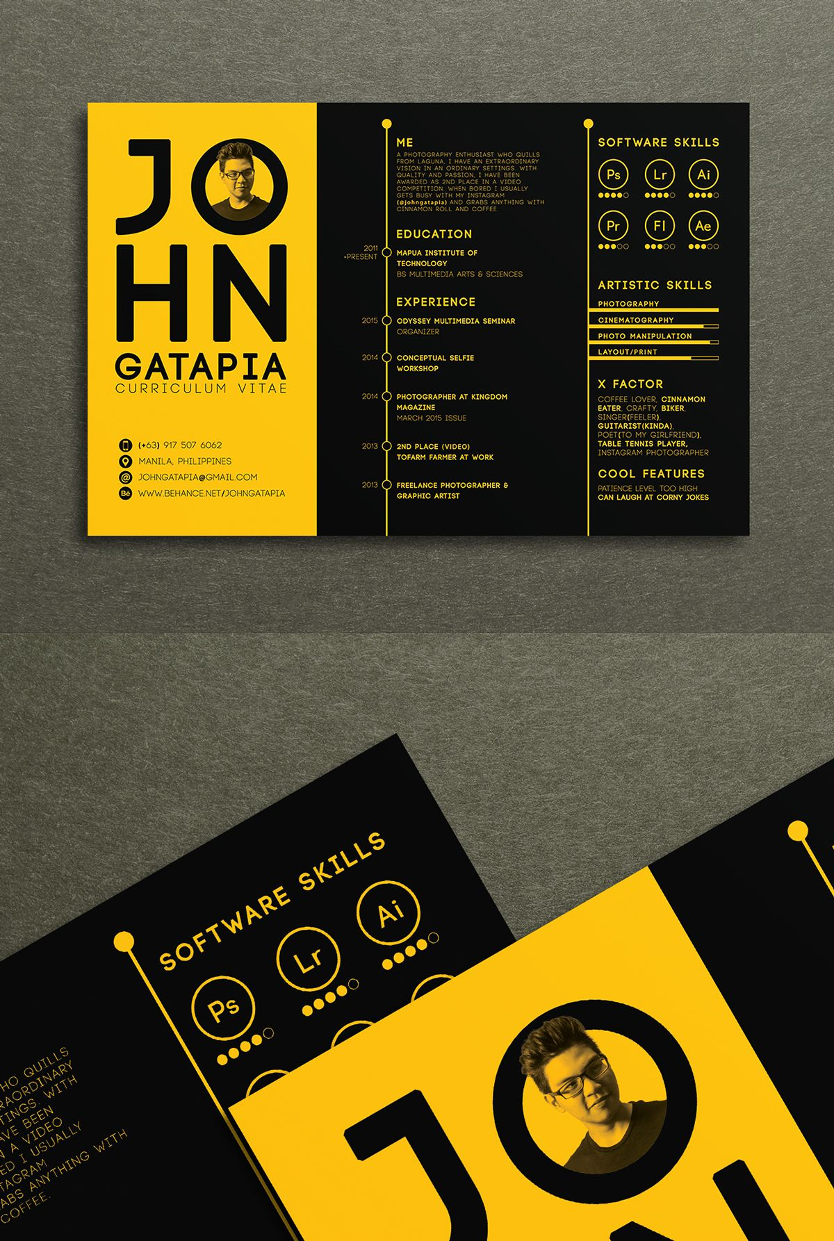 Creative Curriculum Vitae Resume On Behance Design Pinterest