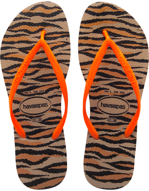 cd7837d83cf07 Stylish   comfortable flip flops are for any occasions! Havaianas Slim  Animals Fluo Rose Gold Flip Flop  www.flopstore.com ...