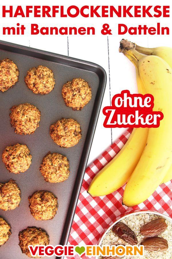 GESUNDE OREFLAKESKINS zuckerfrei | Einfache vegane Haferkekse ohne ...   - Rezepte Frühstück -