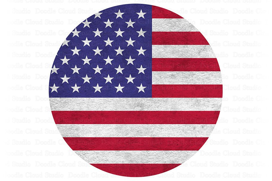Usa American Flag Circle Png 4th Of July Png Memorial Day Png By Doodle Cloud Studio Thehungryjpeg Com Sponso Stencil Wall Art Sunflower Png American Flag