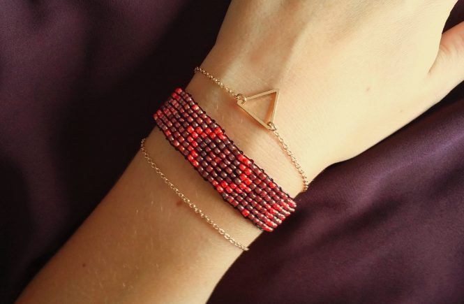 DIY : bracelet tissé en perles.