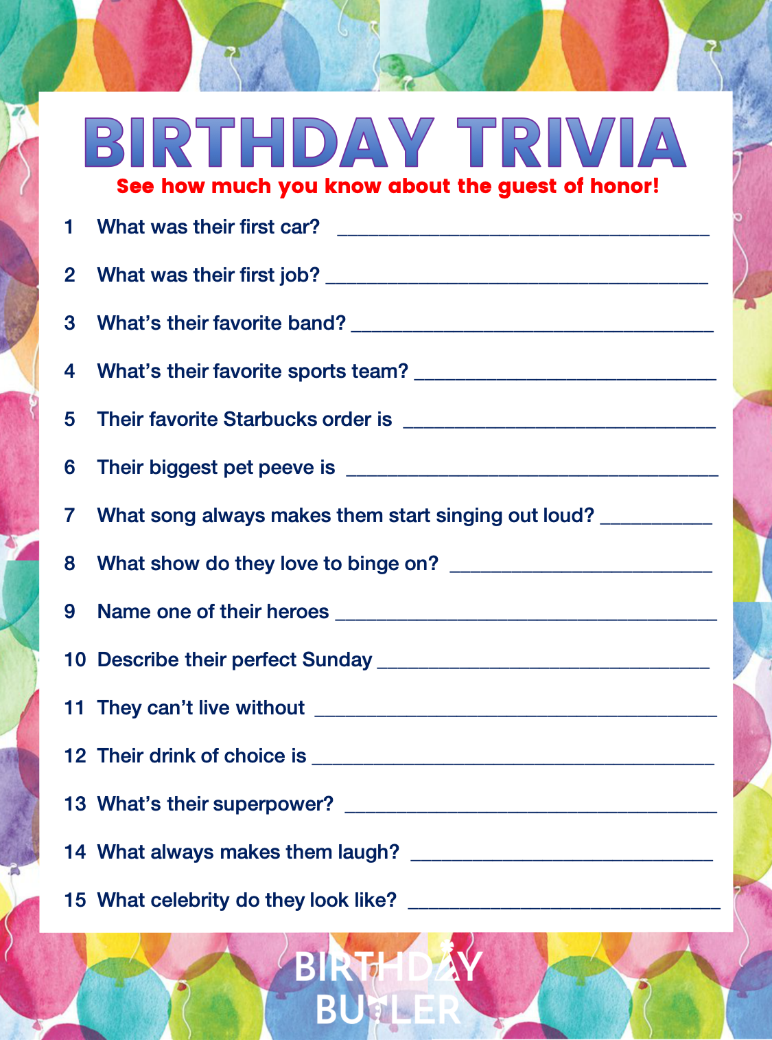 Add Oomph To Your Party With Birthday Trivia With Images