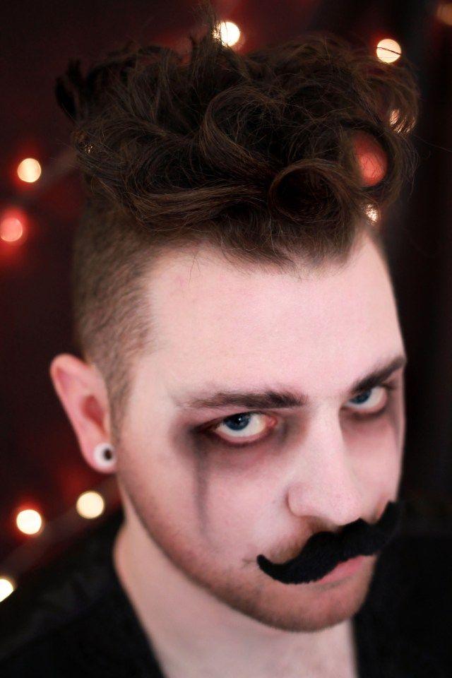 mustache, circus shoot, circus photography, circus makeup, male makeup