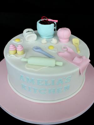 Magnificent Baking Themed Cake With Images Cake Baking Theme Novelty Cakes Personalised Birthday Cards Vishlily Jamesorg