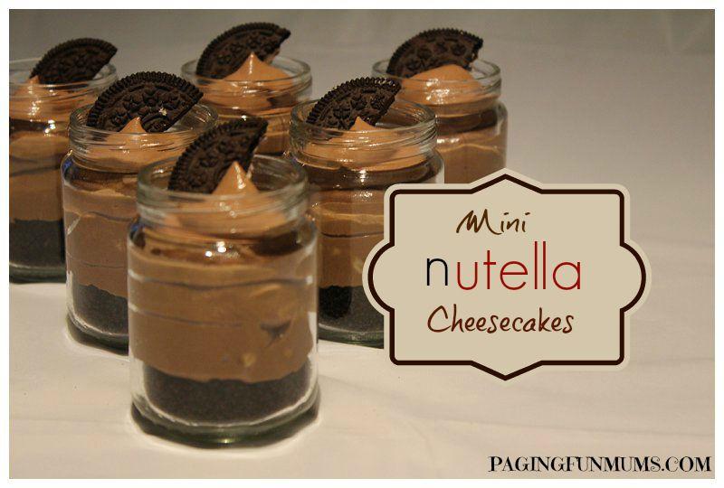 Mini Nutella Cheesecakes  Nutella Cheesecake Mini Nutella Cheesecakes  Jenni and I both LOVE Nutella…we both also love mini cheesecakes...