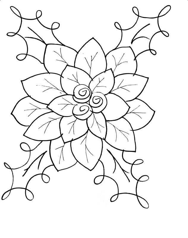 Flor De Navidad Para Colorear Dibujos Dibujo De Flor Flor De Navidad