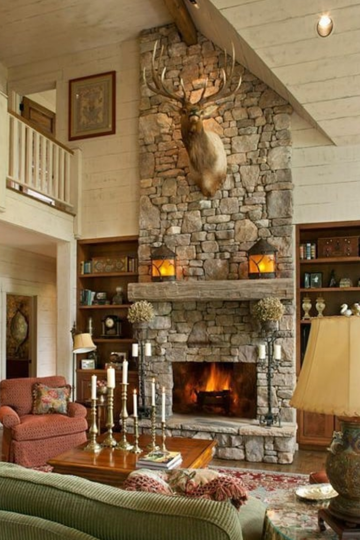 10+ Best Rustic Living Room With Fireplace