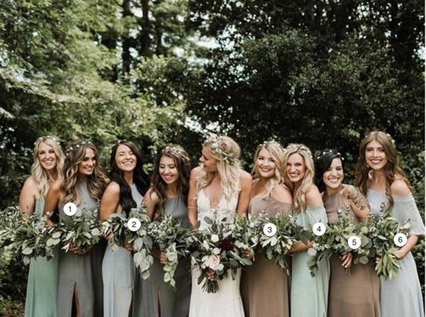 29 Mismatched Bridesmaid Dresses Your Girls Can't Say No to! - WeddingInclude
